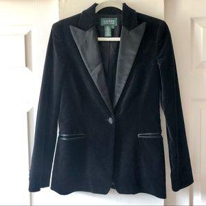 Ralph Lauren velvet blazer, silk lapels 4